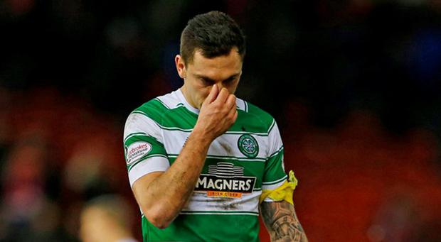 Celtic's Scott Brown after the defeat to Aberdeen