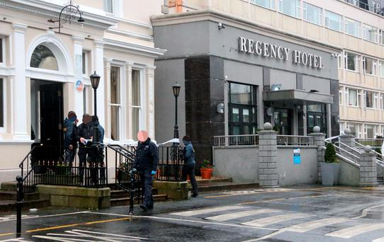 The scene of a shooting at the Regency Hotel on the Swords Road this afternoon... Picture Colin Keegan