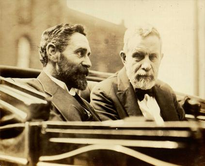 US visits: Roger Casement and John Devoy in New York. Devoy was a key figure in providing financial support to help the rebels ahead of the Rising. He also founded the weekly newspaper The Gaelic American and became leader of Clan na Gael.