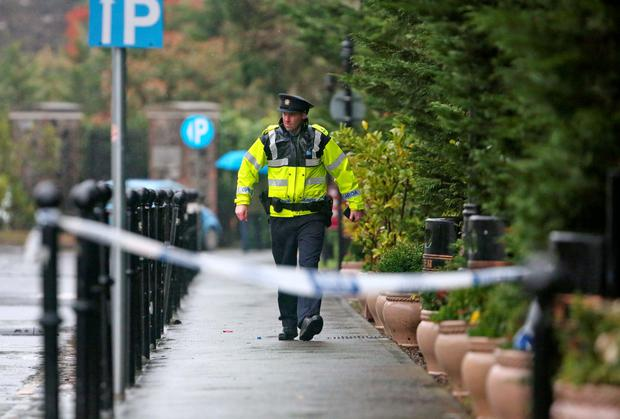 he scene of a shooting at the Regency Hotel on the Swords Road this afternoon... Picture Colin Keegan, Collins Dublin.