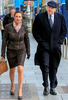Deirdre and Ivan Yates outside court. Photo: Maxwells