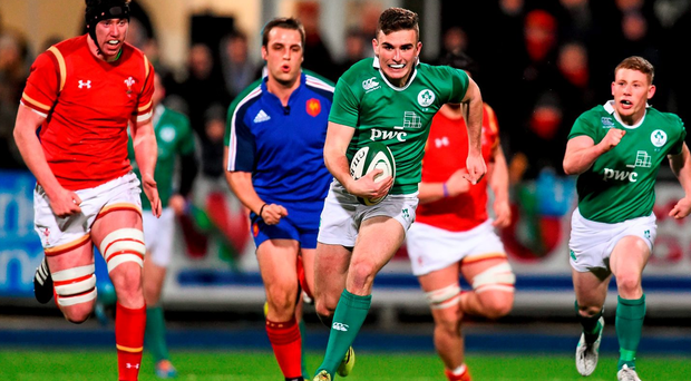 Ireland's Shane Daly against Wales at Donnybrook. Picture credit: Ramsey Cardy / SPORTSFILE