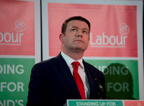 Alan Kelly at Labour's general election launch yesterday. Photo: RollingNews.ie