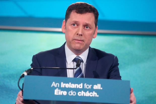 Fianna Fáil environment spokesperson Barry Cowen at the party's launch of its plan to secure home ownership and to tackle homelessness. Photo: Damien Eagers