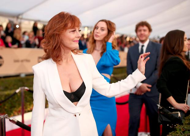 Actress Susan Sarandon (L) and Eva Amurri attend The 22nd Annual Screen Actors Guild Awards at The Shrine Auditorium on January 30, 2016 in Los Angeles, California. 25650_018 (Photo by Christopher Polk/Getty Images for Turner)