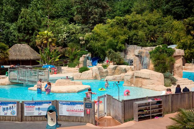 Bonhomie: Domaine des Ormes camp-site is a good starting point for exploring Brittany, and has a substantial water park. Photo: Tony Gavin