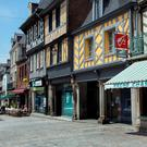 Hit me Brittany: Dol-de-Bretagne oozes atmosphere with its outdoor restaurants and timber-framed houses. Photo: Tony Gavin.