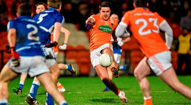 Stefan Campbell, Armagh, kicking a second half point