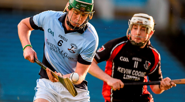 Na Piarsaigh's Ronan Lynch in action against Tommy Storey of Oulart-the Ballagh. Picture credit: Diarmuid Greene / Sportsfile