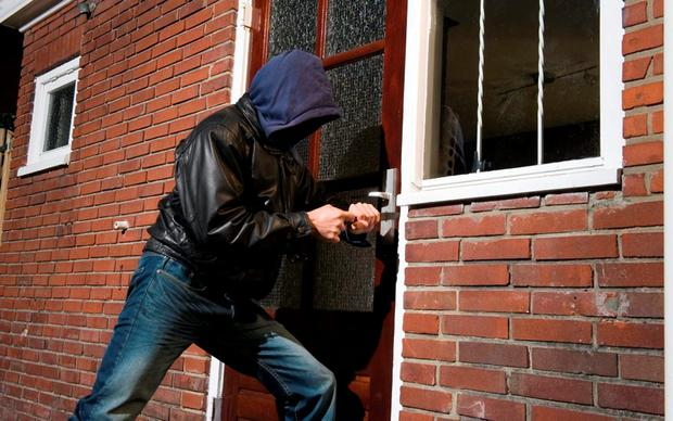 Image result for burglar getting in front door