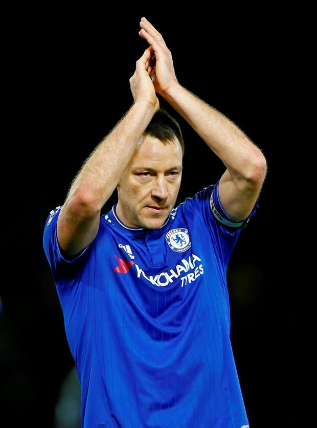 Chelsea's John Terry applauds fans after his team's match against Watford Photo: Reuters / Stefan Wermuth
