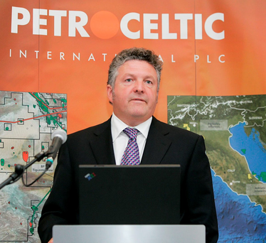 Brian O'Cathain, CEO of embattled Petroceltic Photo: Paul Sharp