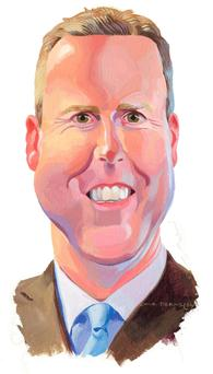 Cartoon of Sky Ireland managing director JD Buckley
