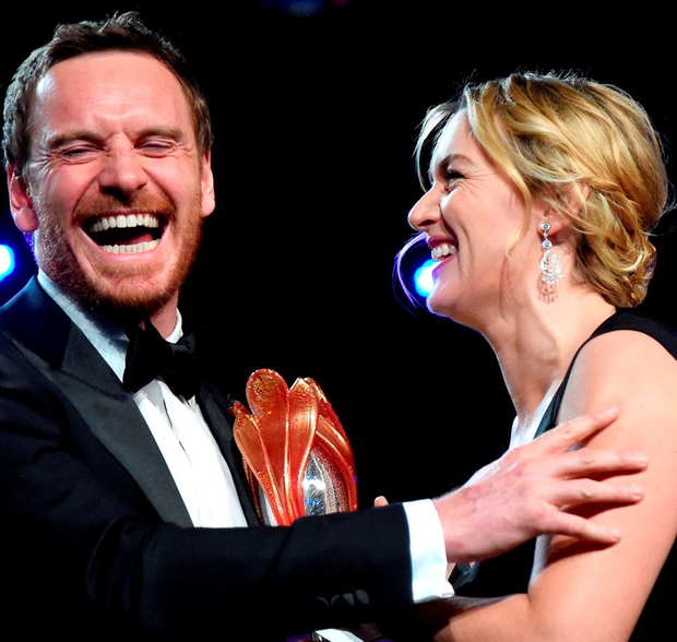 Actor Michael Fassbender and his Steve Jobs co-star Kate Winslet have both been given Oscar nods - but the Irishman has revealed that he still fears he could become yesterday's news in Tinsletown Photo: Jason Merritt/Getty Images
