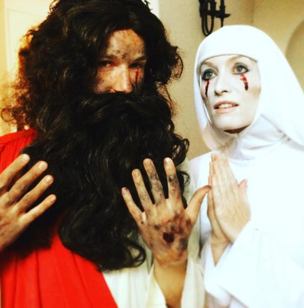 Victoria Smurfit and boyfriend Alistair Ramsden on Halloween. Picture: Instagram