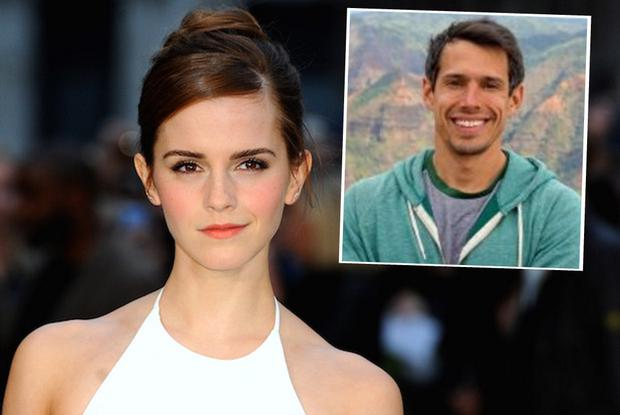 Emma Watson and (inset) is her new boyfriend William Knight