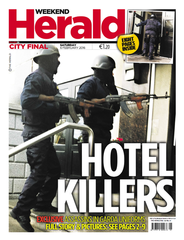 Yesterday's front page of The Herald