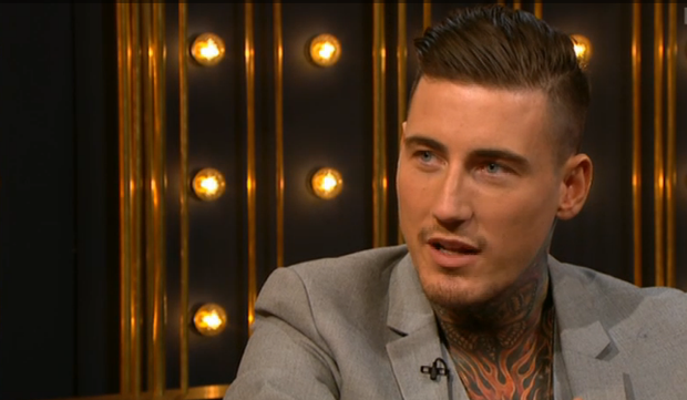 Celebrity Big Brother contestant Jeremy McConnell on the Ray D'Arcy Show. Photo: RTE