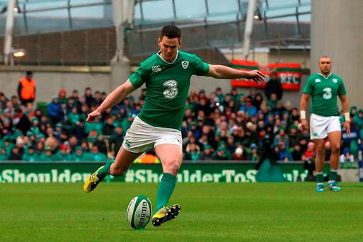 Ireland's Jonathan Sexton finished with a 100pc kicking record against Wales