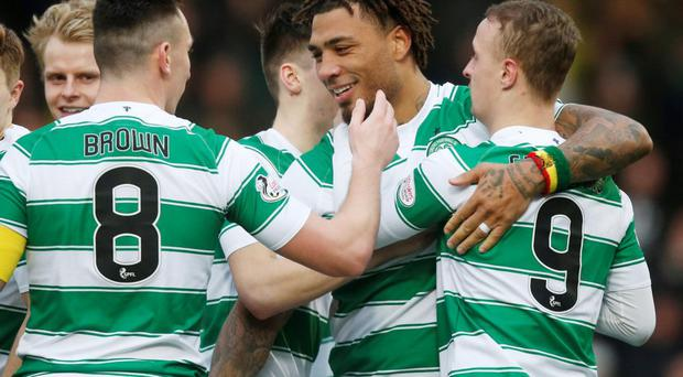 Celtic's Colin Kazim-Richards celebrates scoring his side's second goal of the game