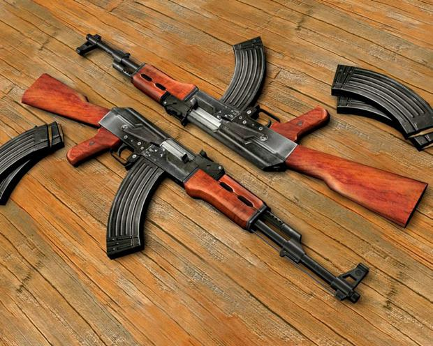 Deadly AK-47s like the ones used in the shooting