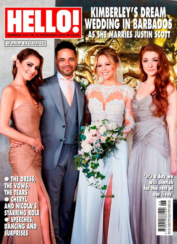 Kimberley Walsh's wedding as covered by Hello! magazine. Picture: Hello! Magazine/PA Wire
