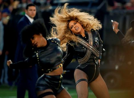 Beyonce performs during halftime of the NFL Super Bowl 50 football game in Santa Clara, Calif. (AP Photo/Matt Slocum, File)