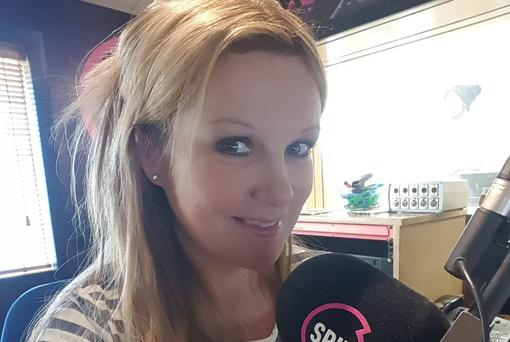 Nikki Hayes shared this work selfie at Spin 1038