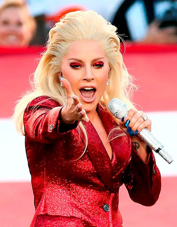 Lady Gaga Sings The National Anthem At Super Bowl 50 Levis Stadium On February 7 2016 In Santa Clara California Photo By Christopher Polk Getty