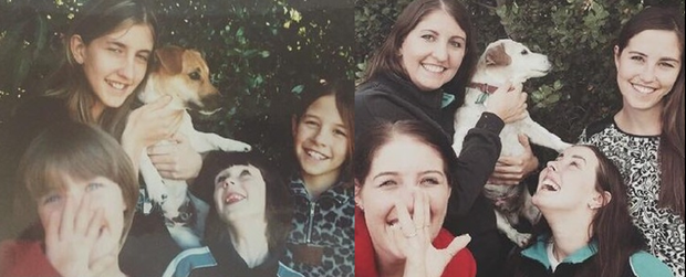 A family has recreated their much loved picture on the last day of their dog's life