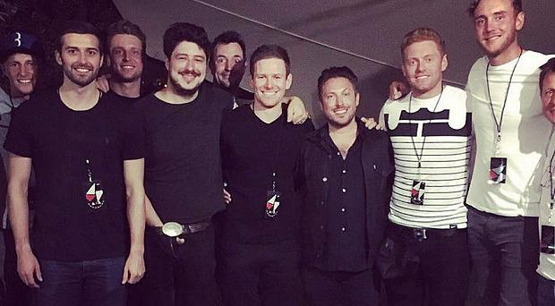 Marcus Mumford and the England lads enjoyed a night to remember Photo: INSTAGRAM