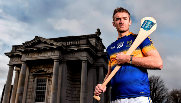 Tipperary's Noel McGrath outside the Marino Casino in Dublin for the launch of the Allianz National Hurling LeaguePhoto: Brendan Moran/Sportsfile
