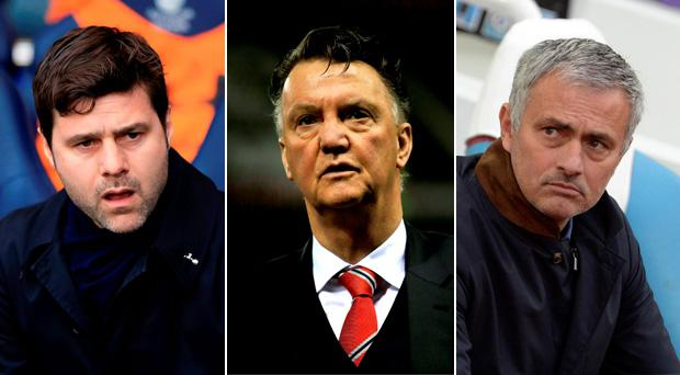 Mauricio Pochettino, Louis van Gaal and Jose Mourinho