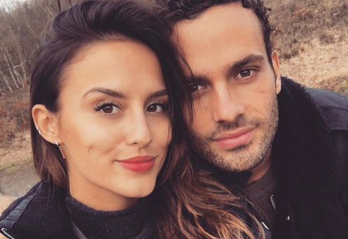 Lucy Watson poses with boyfriend James Dunmore. Photo: Lucy Watson Instagram