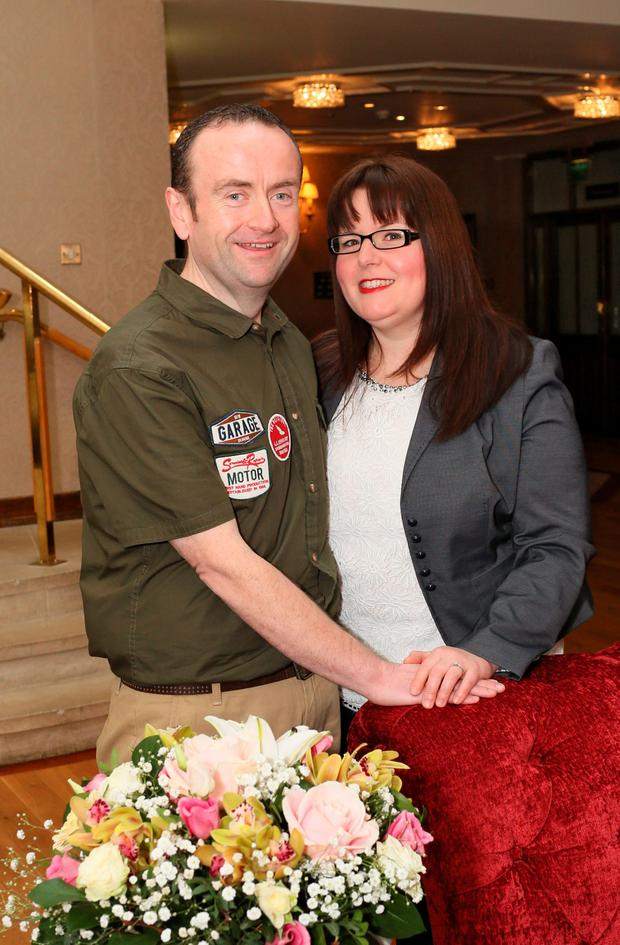 Paul Carney and his fiancee Clare Gilsenan