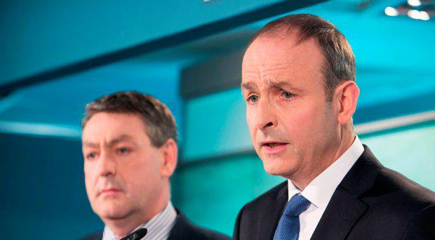 Fianna Fail Director of Elections Billy Kelleher TD Fianna Fail leader Micheal Martin TD
