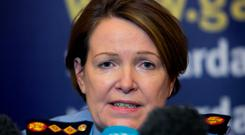 Garda Commissioner Noirin O'Sullivan during a media briefing at the Garda Headquarters, Phoenix Park, in relation to the recent shootings in Dublin. Photo: Gareth Chaney Collins