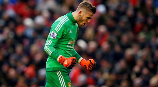 David De Gea signed a new contract with Manchester United after a proposed move to Real Madrid fell through. Photo: Reuters