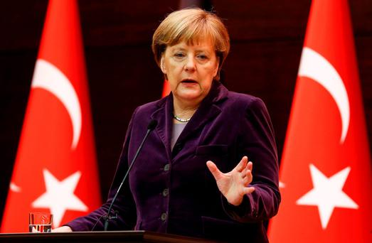German Chancellor Angela Merkel; Germany is not only facing a refugee crisis, but is also experiencing strain in its relationship with Europe – a strain that will have significant implications for Ireland in the years ahead. REUTERS/Umit Bektas