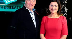Newstalk's Pat Kenny and TV3's Colette Fitzpatrick. Pic: Brian McEvoy