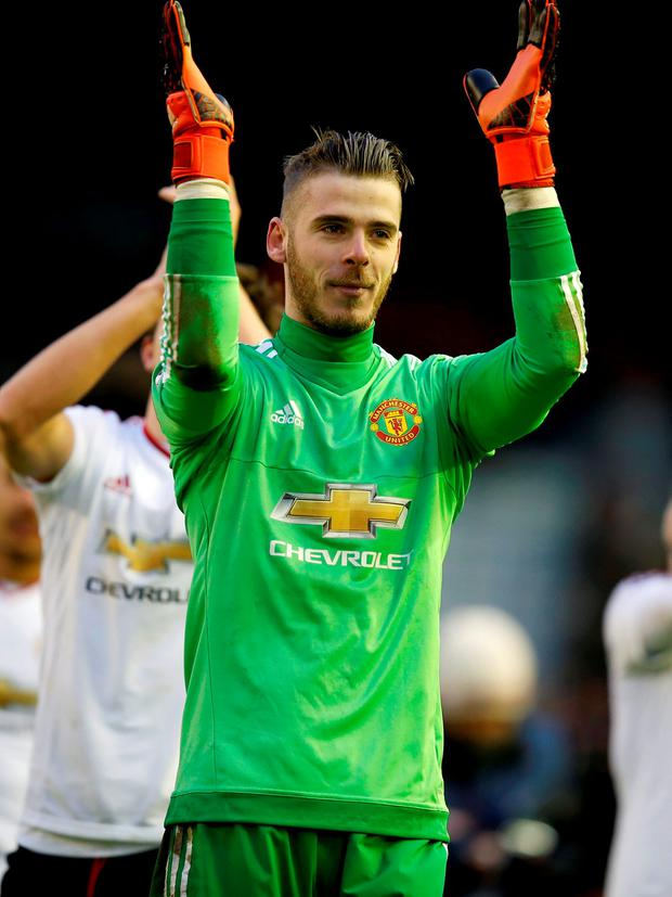 Manchester United keeper David de Gea: Peter Byrne/PA Wire.