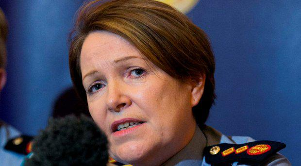 Garda Commissioner Nóirín O'Sullivan during a media briefing at the Garda Headquarters, Phoenix Park, in relation to the recent shootings in Dublin