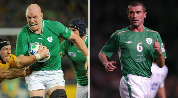 Paul O'Connell and Roy Keane