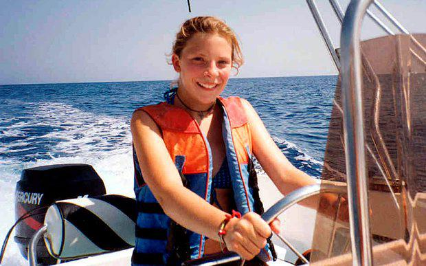 Milly Dowler on a family holiday