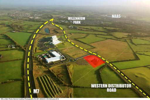 CBRE is quoting €2m for the development site (highlighted in red)