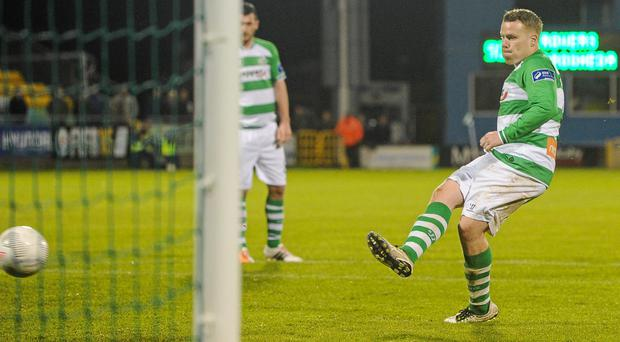Danny North was on the scoresheet for Shamrock Rovers in pre-season today.