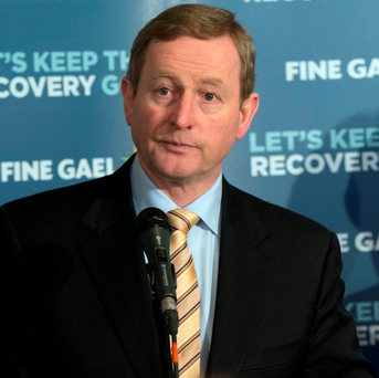 Enda Kenny is the most talked about party leader on social media Photo: Andrew Downes/Xposure