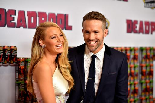 Actors Blake Lively (L) and Ryan Reynolds attend the