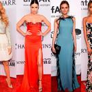 (L to R) Blake Lively, Adrian Lima, Diane Kruger and Jourdan at New York's amfAR gala