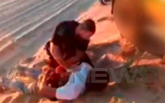 Police arrested the man at a nearby campsite Photo: 7 News